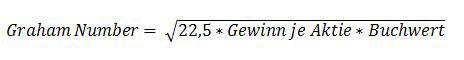 Die Graham Number berechnen ist einfach und nicht schwierig. Die Graham Number vereint zwei Aussagen beim Value Investing von Benjamin Graham, dass man für eine Aktie maximal das 15 fache des Gewinns und das 1,5 fache des Buchwertes bezahlen sollte.